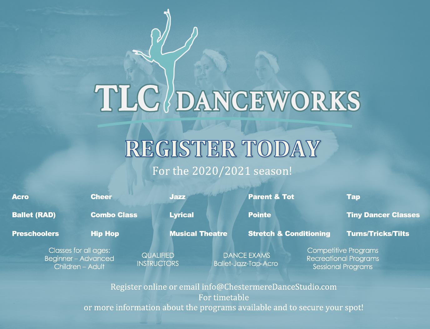 Fall Schedule 2020-2021 - TLC Danceworks